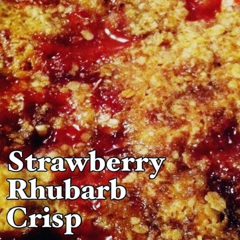 Baking with Strawberries | Strawberry Rhubarb Crisp