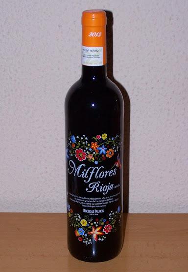 SMilflores tinto 2013, D.o.c Rioja