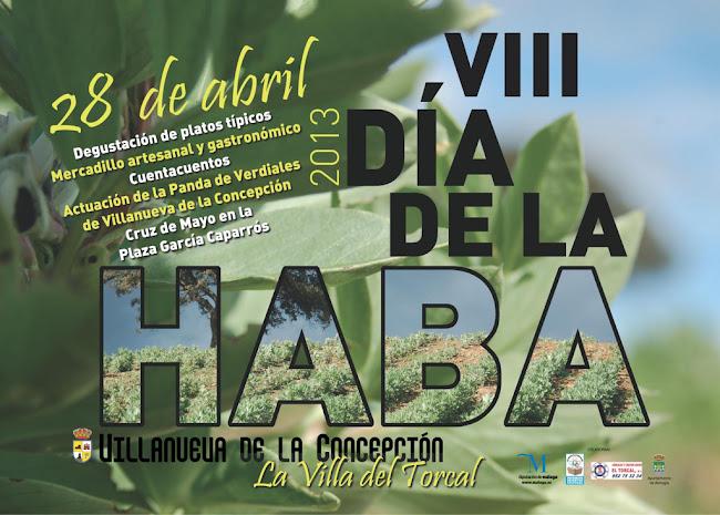 Cartel VIII Día de la Haba. Villanueva de la Concepción