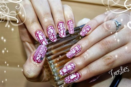 vernis crackle Pink