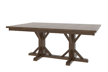 "70"" x 46"" Alexandria Table in Blackened Oak"