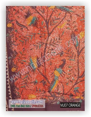 Seragam Batik, Grosir Batik, Kain Batik, MJ07 ORANYE