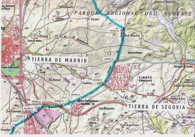 Plano actual de la zona visitada