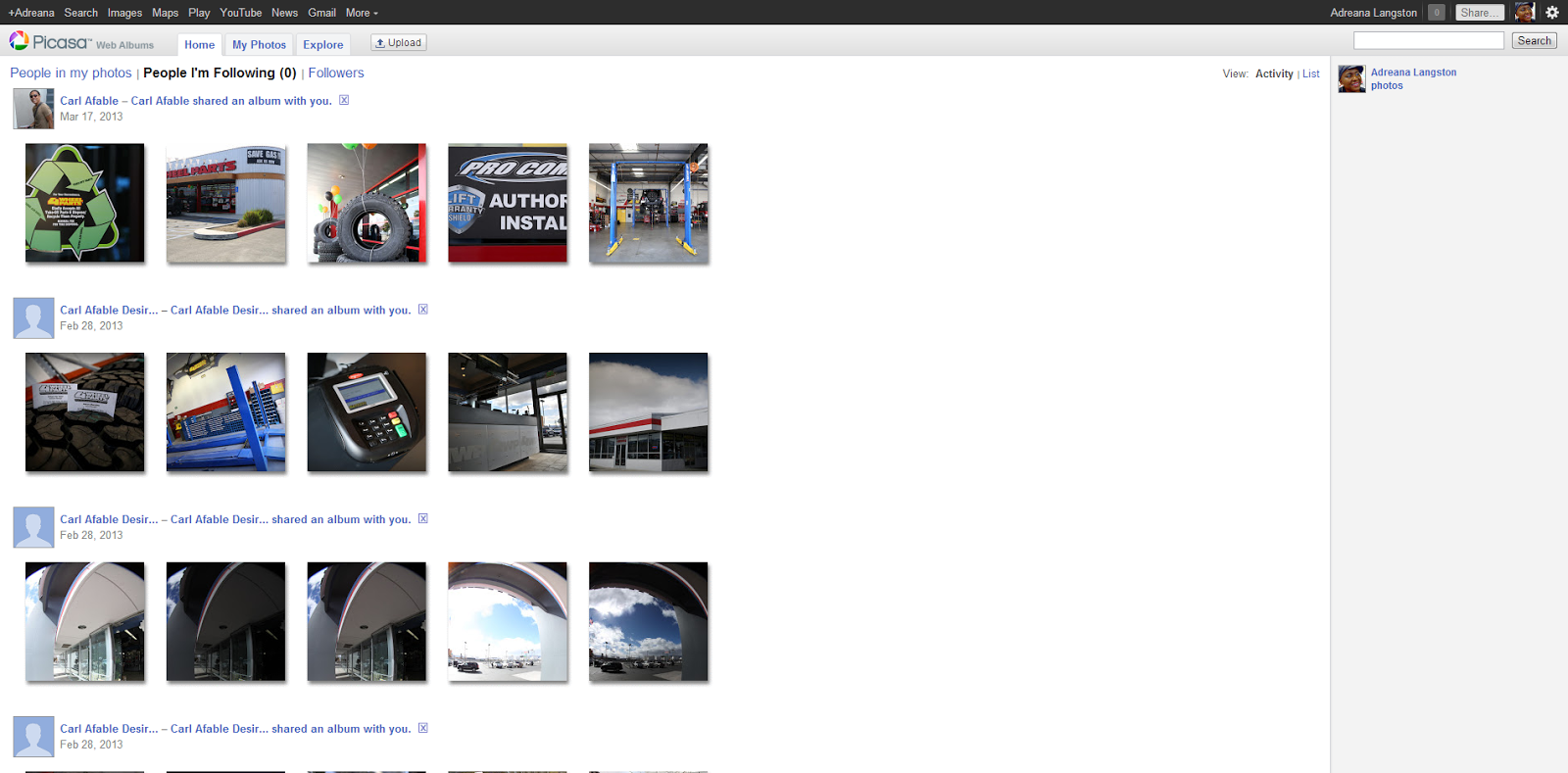a google trusted photograher shared an album with me but it is not