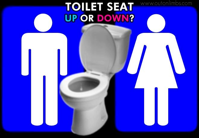 Toilet Seat Up Or Down.Leave The Toilet Seat Down Or Put Up Out On Limbs