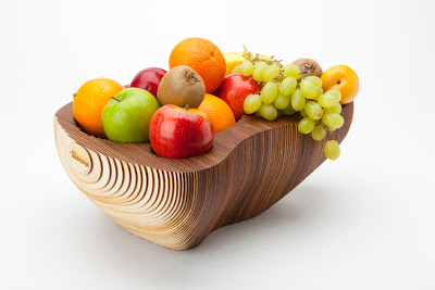 Organic cardboard fruit bowl