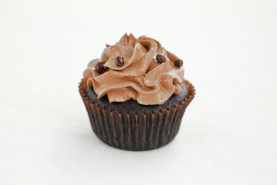 photo of one chocolate cupcake