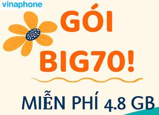 Cách nhận 4.8 GB Data Vinaphone gói BIG70 Vinaphone