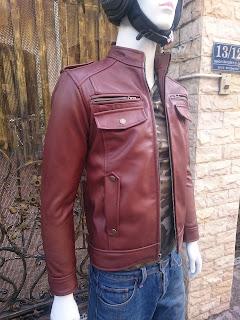 áo da bò nam thời trang