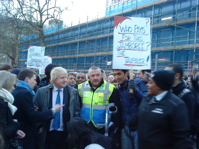 Boris unfazed by protester