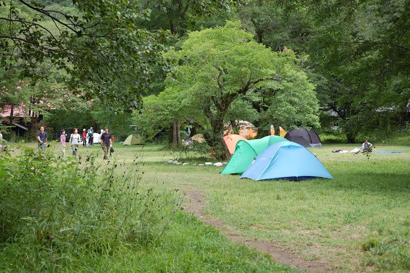 徳沢キャンプ場の写真