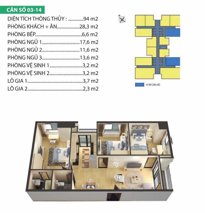 Thiết kế căn hộ 03-14