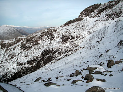 Looking towards Stand Crag on the Corridor Route.