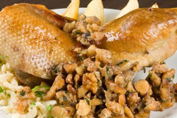 Pato com Castanhas e Frutas Secas