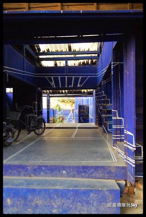 台南景點推薦-新藍晒圖【3D立體藍晒圖(司法宿舍文創園區)】
