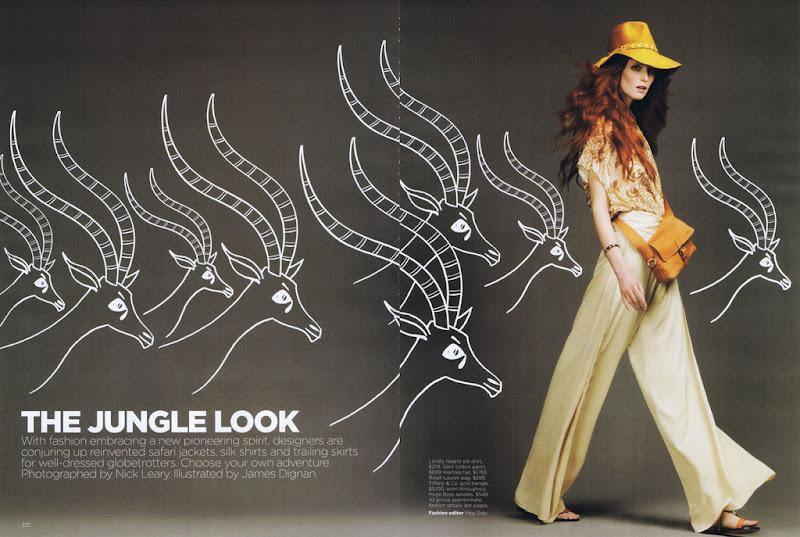 Vogue Australia - December 2012 - The Jungle Look