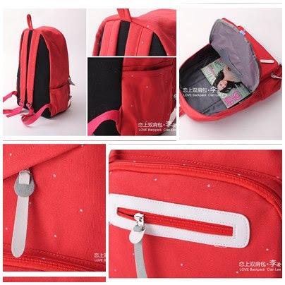 Tas, tas import korea, warna, Merah, korea, kanvas, Pre Order, murah