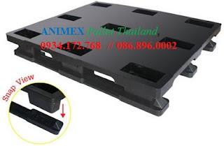 Pallet nhựa lưu kho SMS 1012 NR nhập khẩu