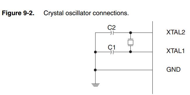 Crystal oscillator connections
