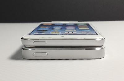 iPod touch第5世代とiPhone5:上部側面
