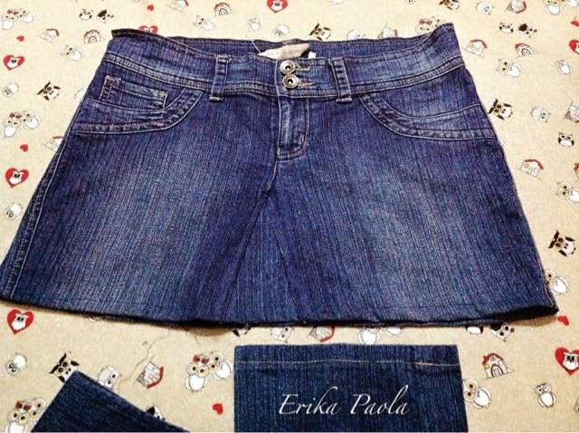 3d0463407e Erika Paola  Reciclando un par de pantalones Jeans para hacer una ...