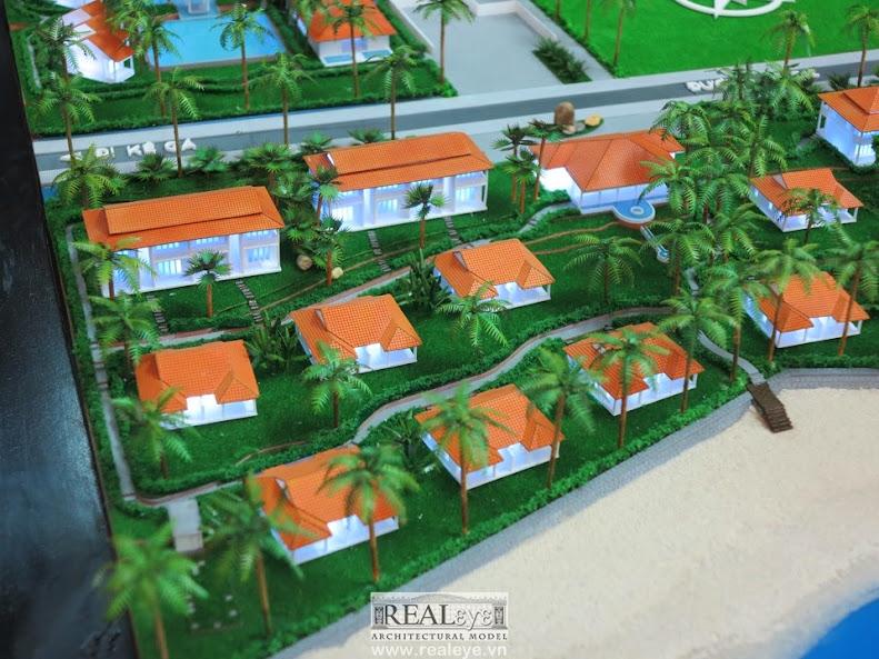 Mô hình kiến trúc Resort Golden Lotus - mô hình kiến trúc REALEYE
