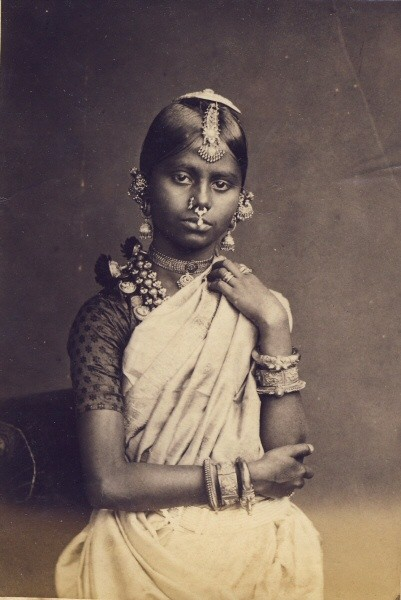 Portrait of a Sinhalese girl Wearing Ornaments - 1880's