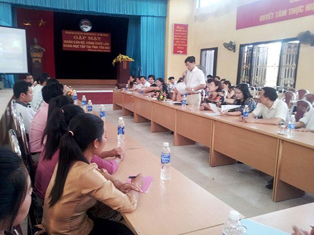 Gặp mặt đoàn cán bộ công chức Lào đang học tập tại tỉnh Yên Bái
