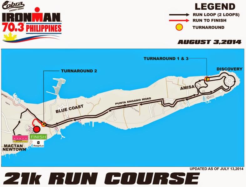 Cobra Ironman 70.3 Philippines 2014 Run Course