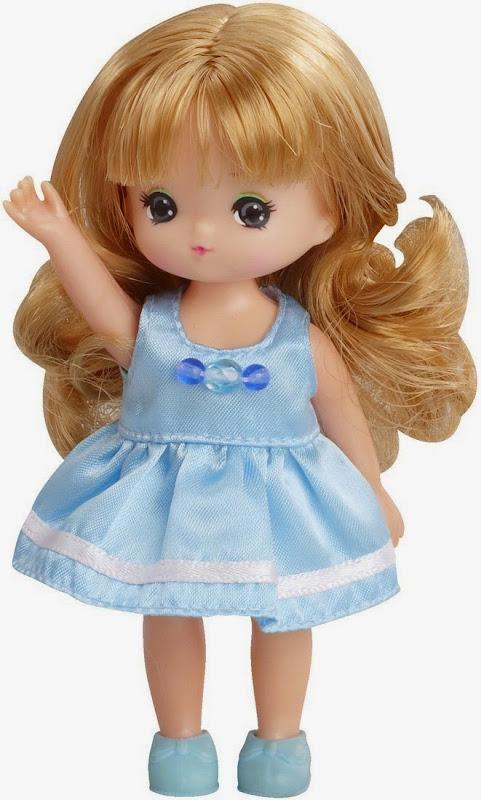 búp bê Miki mẫu giáo váy xanh