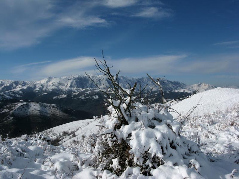 En el alto Busdongo punto más alto de la ruta.