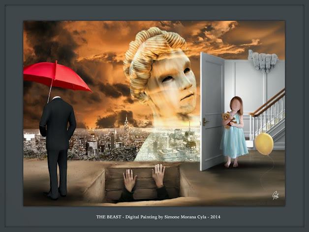 THE BEAST - Digital Painting by Simone Morana Cyla © 2014