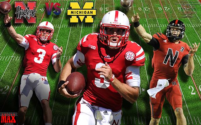 Nebraska Vs Michigan Featuring Taylor Martinez Gameday Wallpaper