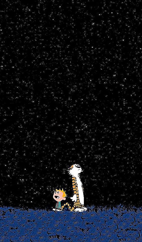 Calvin Hobbes Space iPhone 5 Wallpaper 640x1136