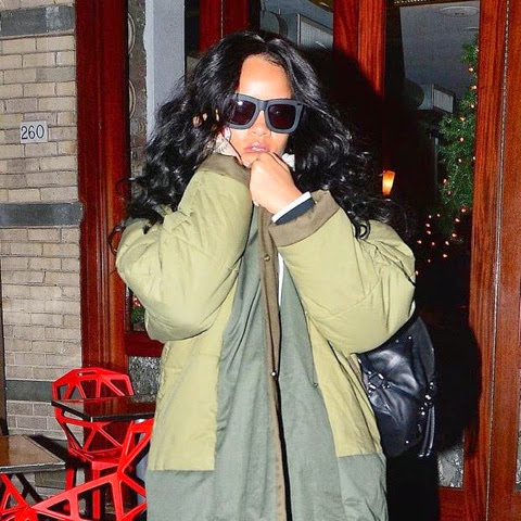 Rihanna in Grey Ant and KTAG