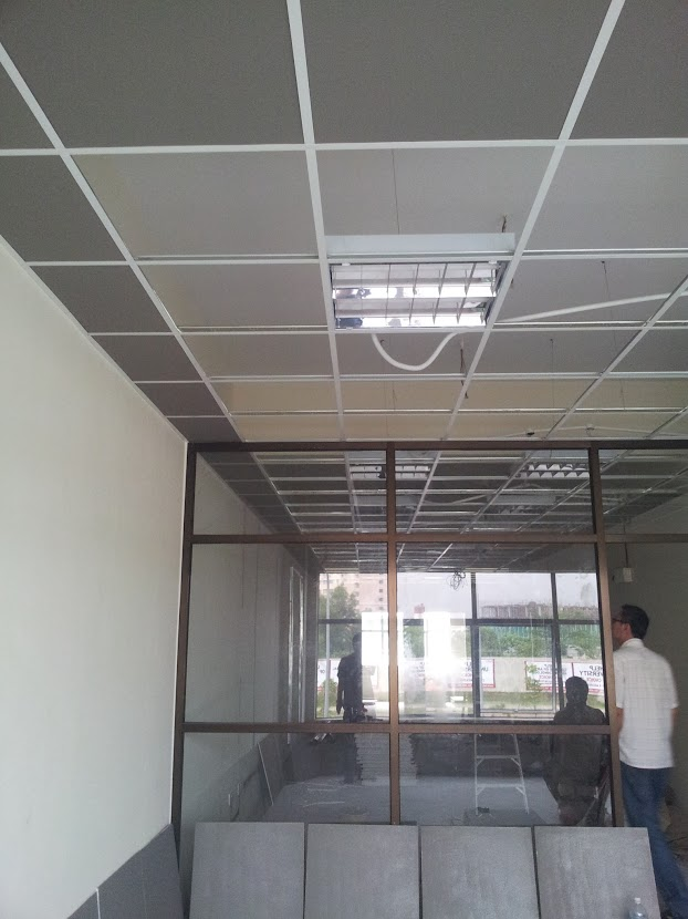 cover with ceiling board