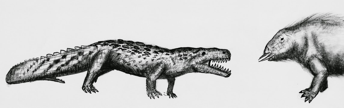 eure dinosaurier-Bilder - Seite 2 Pseudosuchian_vs_dicinodont