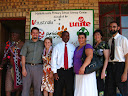 And here's a group picture with us, a prominent village elder (on the left), Mahlahluvana's principal (in the middle), one of our nearest PCVs (Tia), and the two PCVs (Robin and Woody) who are replacing us in our village and schools.
