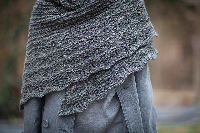 chal punto bonito beautiful shawl knit