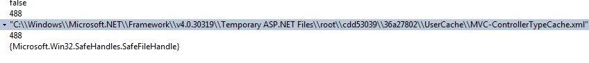 cache file name