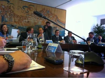 Reunião da Comissão Permanente de Concertação Social onde o governo do PSD e CDS apresentaram a sua proposta de destruição do Estado