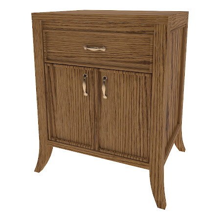 Matching Furniture Piece: Strafford Nightstand with Door, Rustic Oak