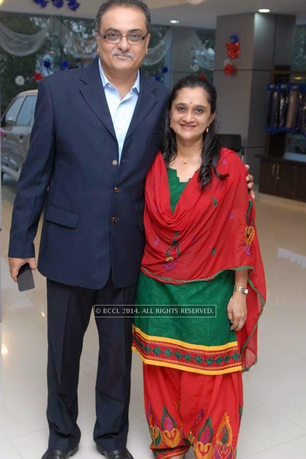 Chirag and Shilpa Baxi at Vishal Barbate's do at Nag road in Nagpur.