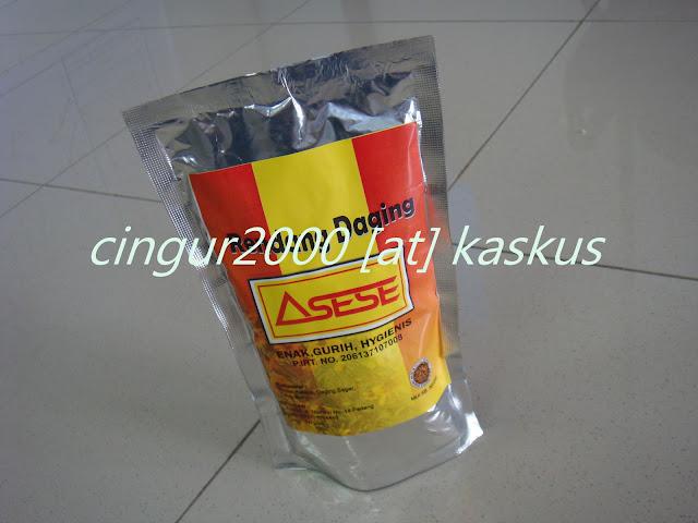Camilan Padang RENDANG DAGING (BASAH)