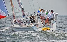 J/109 LOKI winning class- sailing fast in Vineyard Race
