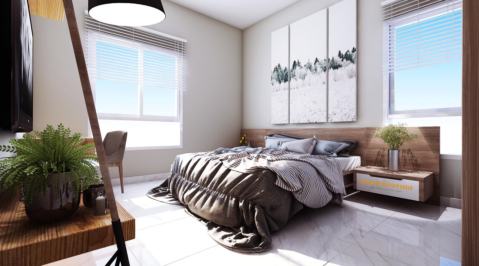 Nội thất phòng ngủ dự án Amber Minh Khai