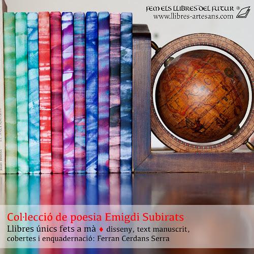 Col·lecció de llibres amb poemes manuscrits Emigdi Subirats