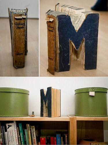 Decoración con libros vintage