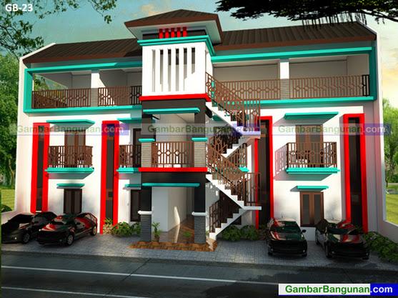 Desain rumah kos 3 lantai