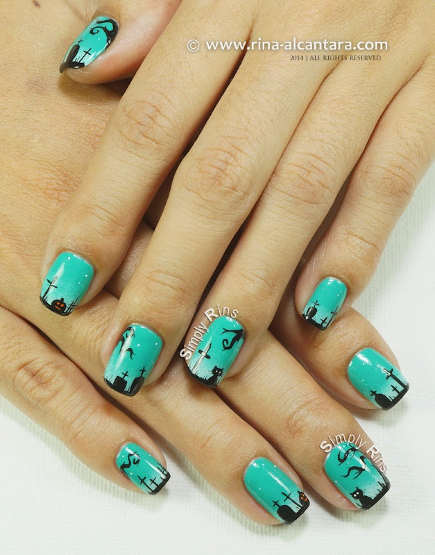 Graveyard, Too Nail Art Design by Simply Rins
